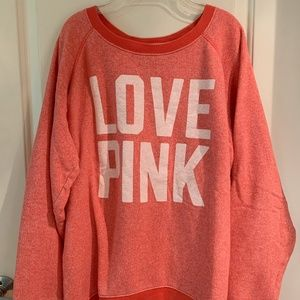 PINK Oversized Crew Sweatshirt